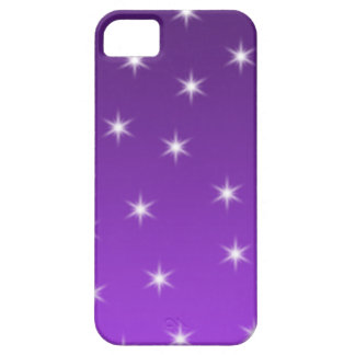 Purple and White Stars, Pattern. Barely There iPhone 5 Case