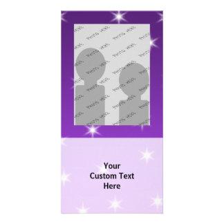 Purple and White Stars, Pattern. Card