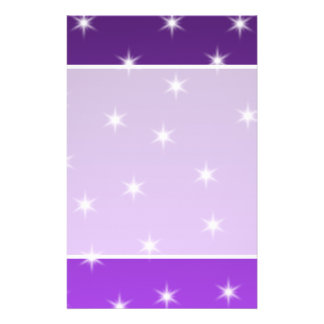 Purple and White Stars, Pattern. Flyer
