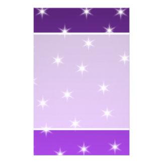 Purple and White Stars, Pattern. Custom Flyer