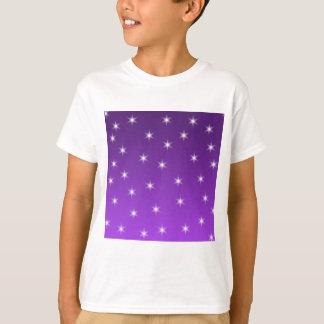 Purple and White Stars, Pattern. T-Shirt