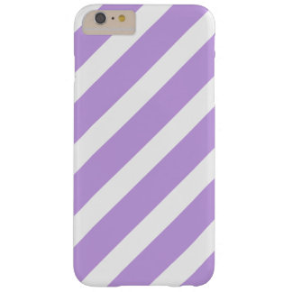 Purple and White Stripes Barely There iPhone 6 Plus Case