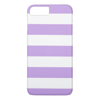 Purple and White Stripes iPhone 7 Plus Case