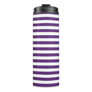 Purple and White Stripes Thermal Tumbler