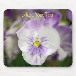 Purple and White Violas by Shirley Taylor Mouse Mat