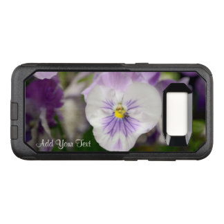 Purple and White Violas by Shirley Taylor OtterBox Commuter Samsung Galaxy S8 Case
