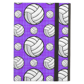 Purple and White Volleyball Pattern iPad Air Cover