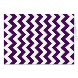 Purple and White Zigzag Card