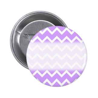 Purple and White Zigzag Stripes. 6 Cm Round Badge