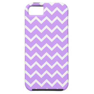 Purple and White Zigzag Stripes iPhone 5 Covers