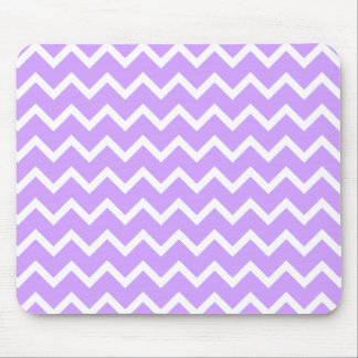 Purple and White Zigzag Stripes. Mouse Mat