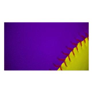 Purple and Yellow Baseball Business Card Templates