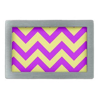 Purple And Yellow Chevrons Belt Buckles
