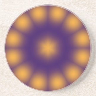 Purple and Yellow Coaster