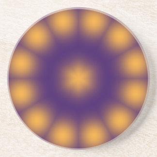 Purple and Yellow Coaster
