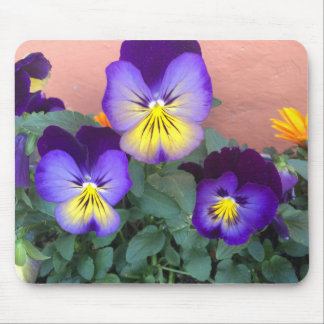 Purple and Yellow Flowers Mousepad