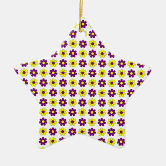 Purple and yellow flowers ornament