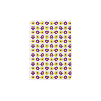 Purple and yellow flowers passport holder