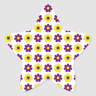 Purple and yellow flowers sticker