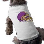 purple and yellow gold football helmet vector desi sleeveless dog shirt