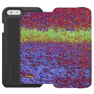 Purple and yellow mosaic pattern incipio watson™ iPhone 6 wallet case
