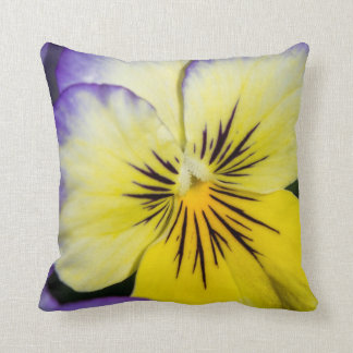 Purple and Yellow Pansy Cushion