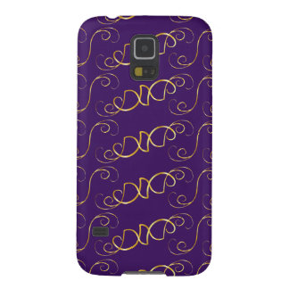 Purple and yellow pattern case for galaxy s5