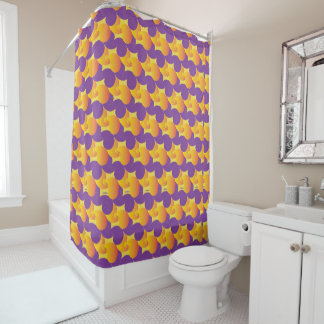Purple and Yellow Pattern Colorful  Shower Curtain