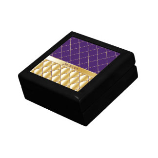 Purple and yellow pattern gift box