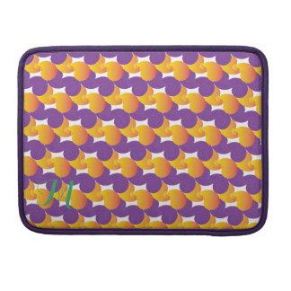 Purple and Yellow Pattern MacBook Pro Sleeve