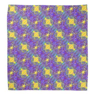 Purple and Yellow Patterned Bandana