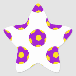 Purple and Yellow Soccer Ball Pattern Stickers