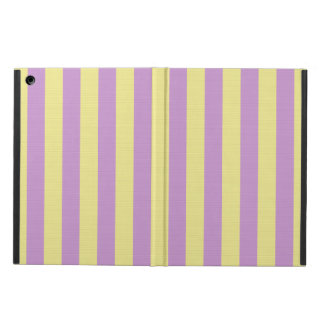 Purple and yellow striped pattern iPad air case
