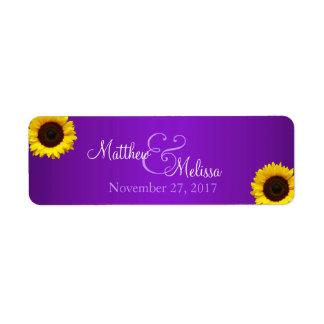 Purple and Yellow Sunflower Stamp