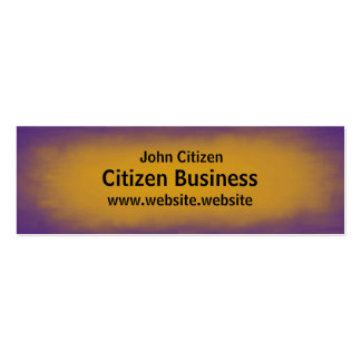Purple and Yellow Texture Business Card