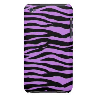 Purple and Zebra Stripes iPod Case-Mate Case