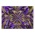 Purple Anemone Abstract Card