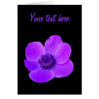 Purple Anemone Flower Customizable Greeting Card