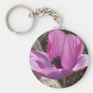 Purple Anemone Keychain