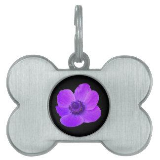 Purple Anemone Pet Tag
