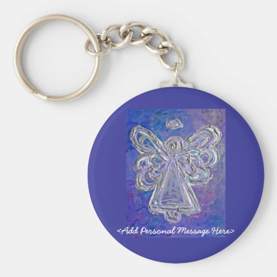 Purple Angel Keychain with Personalised Message