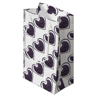 Purple Angel Wings Heart Gift Bag