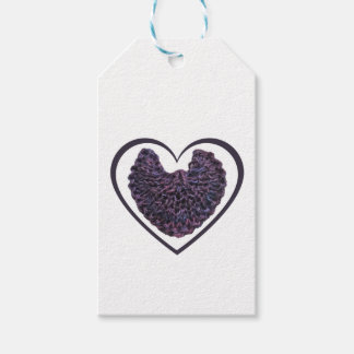 Purple Angel Wings Heart Gift Tags