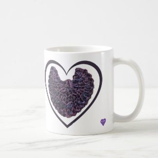 Purple Angel Wings Heart Mug