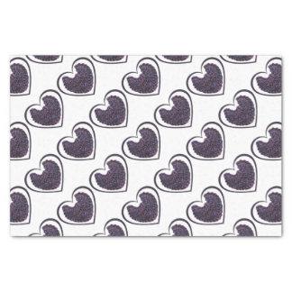 Purple Angel Wings Heart Tissue Paper