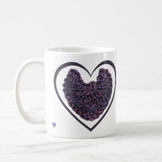 Purple Angel Wings Left-handed Mug