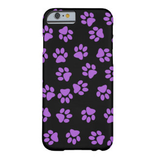 Purple Animal Footprints Barely There iPhone 6 Case