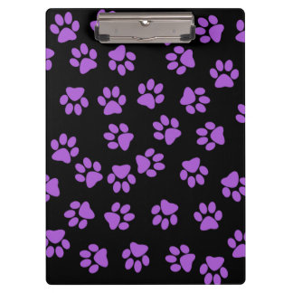Purple Animal Footprints Clipboard