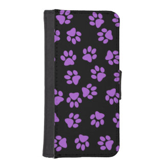 Purple Animal Footprints iPhone SE/5/5s Wallet Case
