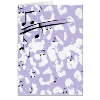 Purple Animal Print Card